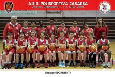 FOTO MB Esordienti 2015-2016