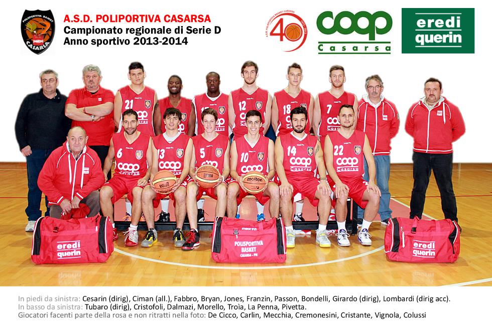 Squadre anno sportivo 2013 2014 asd polisportiva basket for Miorin arredamenti casarsa