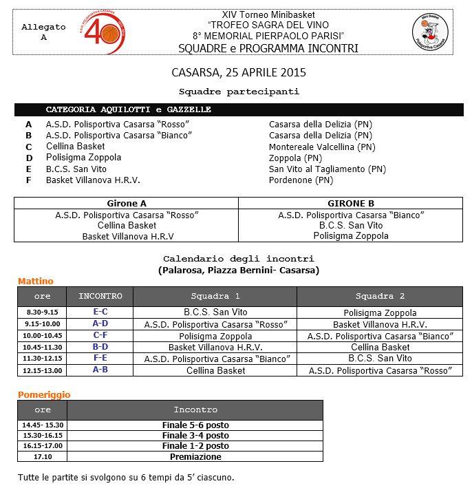 Torneo MB SDV 2015