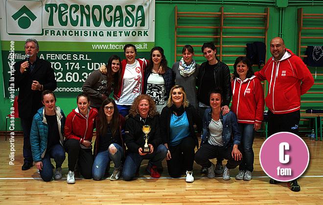 Serie C femminile: Casarsa sale sul terzo gradino del podio regionale, coronando una stagione positiva