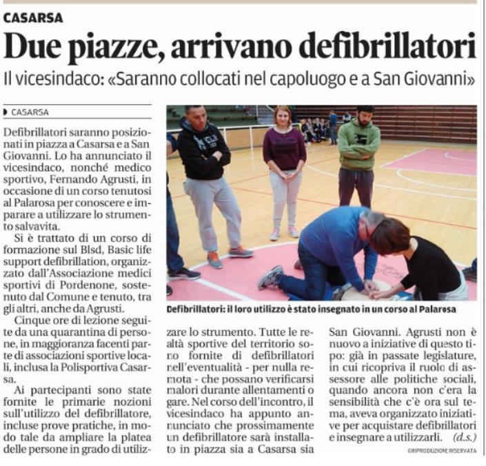 Articoli tratti dal Messaggero Veneto del 18 ottobre 2016