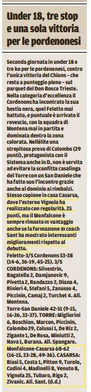 Tratto dal Messaggero Veneto del 24-11-2016