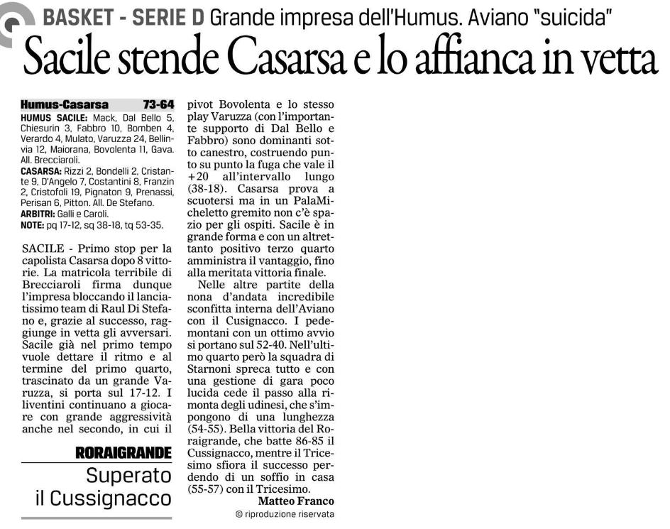 """Tratto da """"Il Gazzettino"""" del 30-11-2016"""
