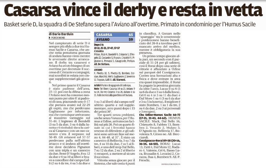 Tratto dal Messaggero Veneto del 6-12-2016