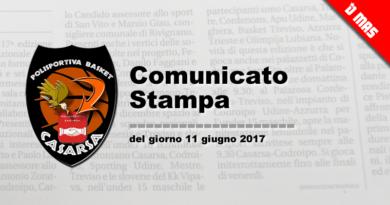 COMUNICATO STAMPA DEL GIORNO 11 GIUGNO 2017